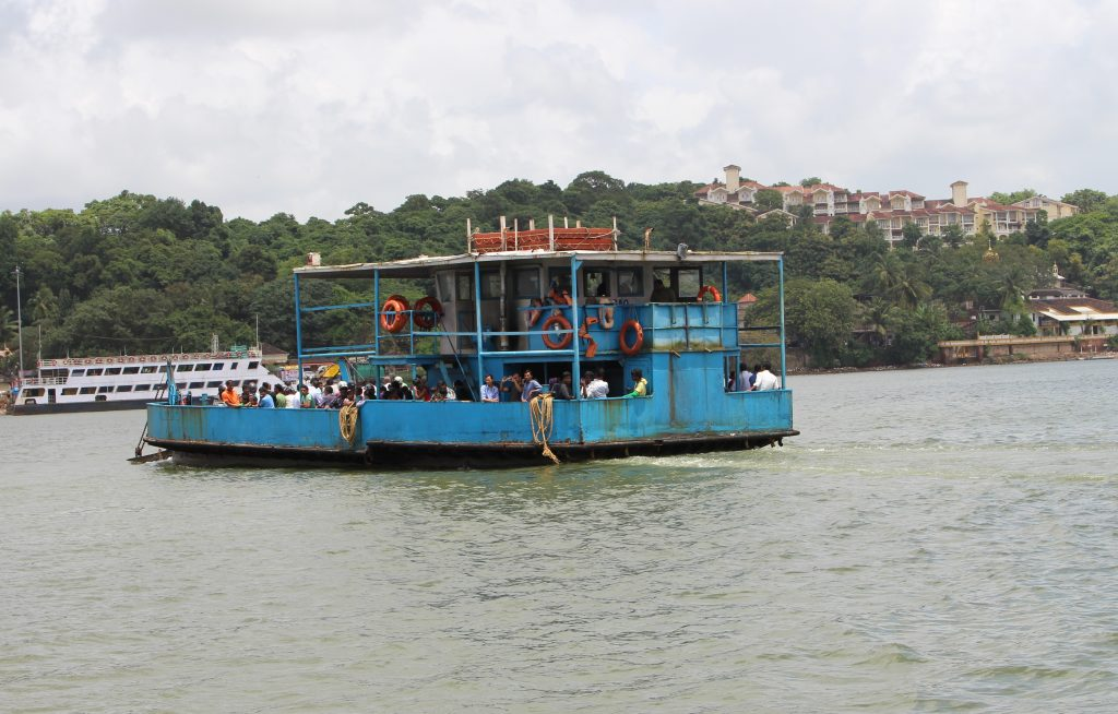 Traveling from Panaji to the Betim Ferry Point. The ferries are a significant part of the public transport network of Goa. The ferries are operated and maintained by the River Navigation Department. Some places in Goa, such as the Island of Divar are (as of 2016) only accessible by ferry.