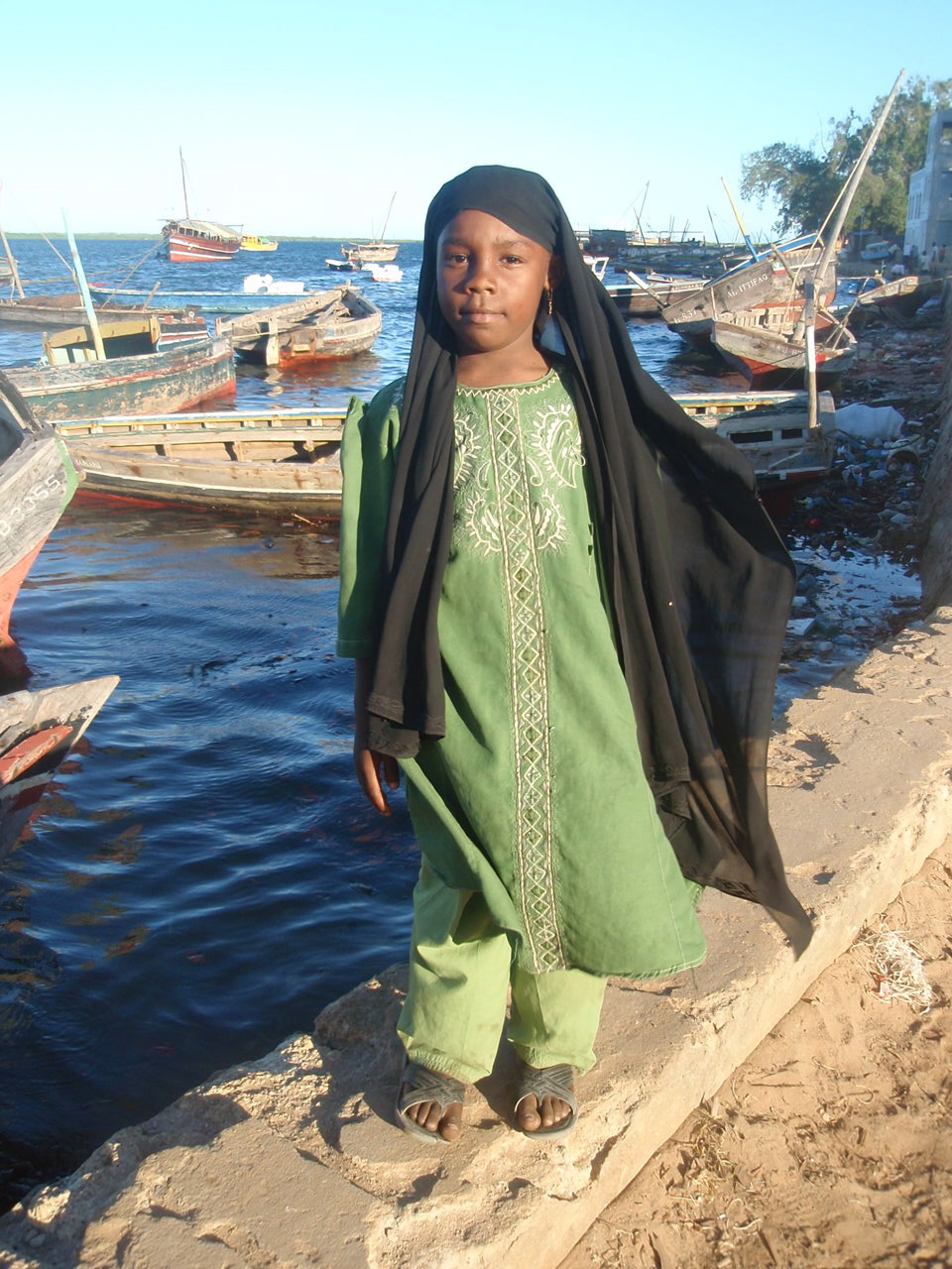 Girl in Lamu, Kenya. Bettina Ng'weno, 2010.